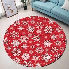 großhandel rund teppich snowflake roter teppich für wohnzimmer computer stuhl bodenmatte kinder tent bereich teppich garderobe teppiche tisch