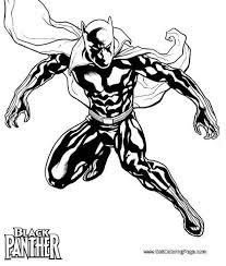 Black Panther Coloring Pages Marvel Super Heroes Printable