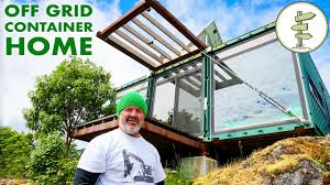 100 Off Grid Shipping Container Homes Man Builds Stunning Home On Mountain Top