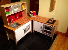 ikea hack of duktig play kitchen two basic kitchen units