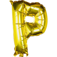Large Pick And Mix Gold Foil Letter P Balloon Hobbycraft