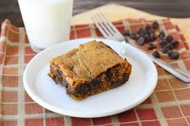 Healthy Chocolate Pumpkin Desserts pumpkin chocolate chip bars two peas u0026 their pod
