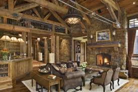 Rustic Red And Brown Living Room Nhsbcgn