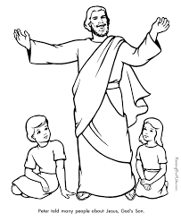 Peter Bi New Picture Biblical Coloring Pages