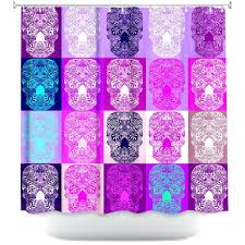 Pink And Purple Ruffle Curtains by Pink Purple Damask Shower Curtain Personalized Shower Curtain
