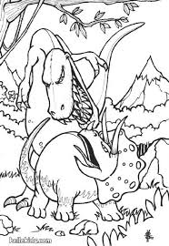 Dinosaurs Fights Coloring Page