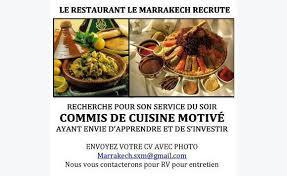 emploi commis de cuisine cherche commis de cuisine annonce offre emploi marigot martin