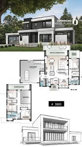 104 Contemporary Modern Floor Plans Discover The Plan 3883 Essex Which Will Please You For Its 4 Bedrooms And For Its Styles Style House Bungalow House Design House Open