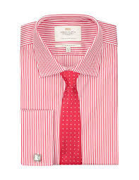 men u0027s red u0026 white bengal stripe slim fit shirt french cuff