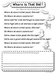Poems About Halloween For Kindergarten by Halloween Activities For Kindergarten Halloween Writing