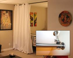 Floor To Ceiling Tension Pole Room Divider by Interior Ceiling Curtain Room Divider Room Dividing Curtains
