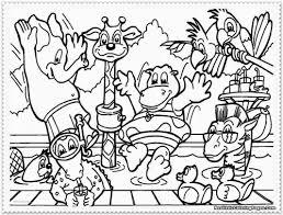 Zoo 7 Animales Páginas Para Colorear