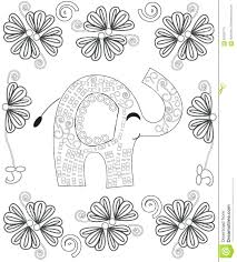 Create Coloring Book From Photos Free Page Adults Line Art Creation Hand Drawn Elephant Relax Meditation
