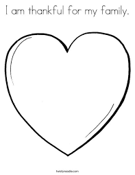 Pink Heart Coloring Page
