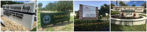Sunniland Patio West Palm Beach by Monument Signs Sign Partners Sign Company Boca Raton