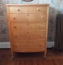 Birdseye Maple Veneer Dresser by Vintage Six Drawer Birdseye Maple Dresser Ebth