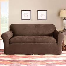 sure fit stretch suede 3 piece sofa slipcover walmart com