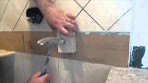 complete tile shower install part 7 installing glass tile border