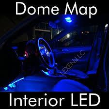 led blue 2x dome map interior light bulb 9 smd circle