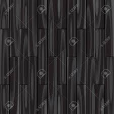 Black Parquet Background Dark Wooden Floor Texture Stock Vector