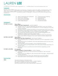 Law Enforcement Resume Cover Letter Examples For Dispatcher Co Police