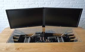 dans bureau un magnifique ordinateur intégré dans un bureau sur mesure niko pik