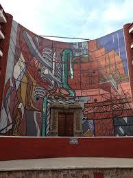 mural alegoría nacional en la escuela normal de maestros ciudad