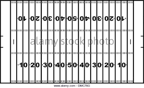 American Football Stadium Black and White Stock s &