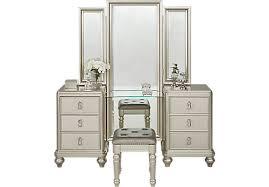 paris silver 2 pc vanity set contemporary