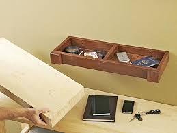 hidden compartment wall shelf woodworking plan from wood magazine