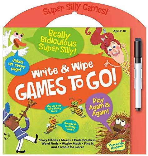 Peaceable Kingdom Really Ridiculous Super Silly Write And Wipe Games To Go! Activity