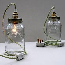 big modern gl jar l with frosted light bulb bedroom