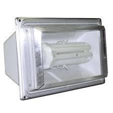 lights of america white fluorex flood light 9265 the home depot