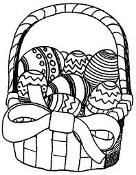 Full Image For Easter Eggs Coloring Page Basket Of Pages Bunny Colouring