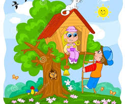 Medium Size Of Peaceably Children Playing Then A Tree Kids House Clipart Clipartfest