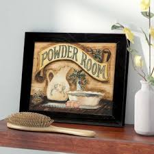 Powder Room Framed Graphic Art