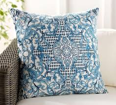 Lisbon Print Indoor/Outdoor Cushion   Pottery Barn AU Patio Ideas Tropical Fniture Clearance Garden Chair Sofa Interesting Chaise Lounge Cushions For Better Daybeds Jcpenney Daybed Covers Mattress Cover Matelasse Denim Exterior And Walmart Articles With Pottery Barn Outdoor Tag Longue Smerizing Pottery Pb Classic Stripe Inoutdoor Cushion Au Lisbon Print Luxury Photos Of Pillow Design Fniture Reviews