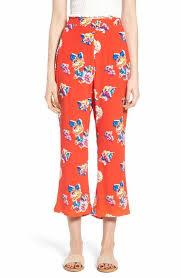 Print Crop Flare Pants