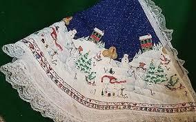 Quilted Handmade Christmas Tree Skirt