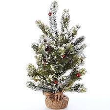 Factory Direct Craft Small Snowy Artificial Tree With Red Berries For Holiday Decor
