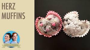 herz muffins backen ohne fixe herz form valentinstag