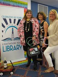 TOP Library Director Christy Keyes With Friends Of The Volunteers Suzanne Marquette Esposito And