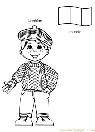 Free Printable Coloring Page Kids From Around The World 011 Cartoons