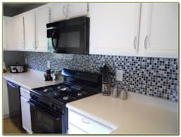 Red Glass Tile Backsplash Pictures by Black And White Glass Tile Backsplash Tiles Home Decorating