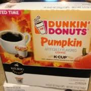 Dunkin Pumpkin Spice Syrup by Dunkin Donuts Pumpkin Flavored K Cup Coffee Calories Nutrition