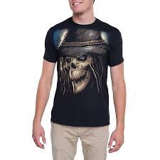 Halloween Maternity Shirts Walmart by Men U0027s Halloween Dark Scarecrow Short Sleeve Graphic Crew Tee