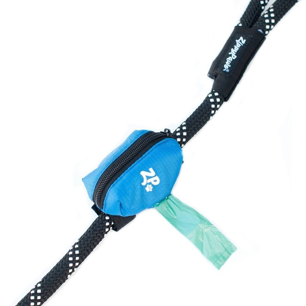 ZippyPaws Dog Poop Bag Holder Leash Attachment - Glacier Blue