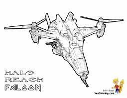 Coloring Pages Book For Kids Boys Images 40 Halo Reach Falcon At