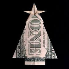 Money Origami CHRISTMAS TREE Real 1 Dollar Bill Gift Ideas By Trinket2shop On Etsy