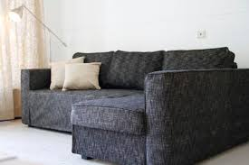 Ikea Karlstad Sofa Bed Slipcover by Manstad Sofa Bed Slipcover In Nomad Black Comfort Works